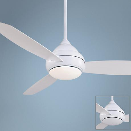 "58"" Minka Aire Concept I Wet Location White Ceiling Fan"