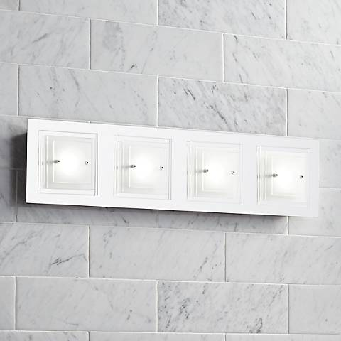 "Possini Euro Design Tifton 25 3/4"" Wide Glass LED Bath Light"