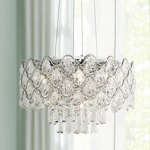 "Angotti 9-Light 19"" Round Crystal Chandelier"