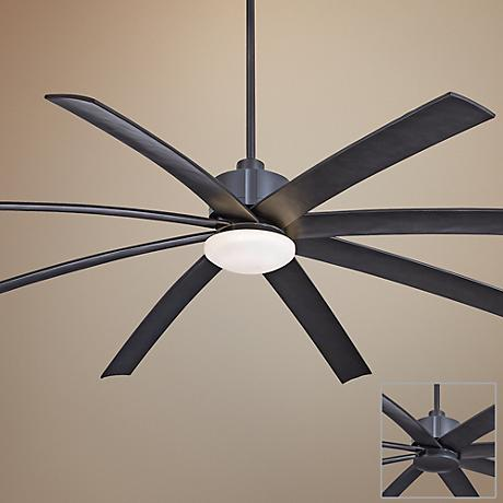 "84""  Slipstream XXL Smoked Iron Outdoor Ceiling Fan"