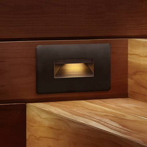 "Hinkley Luna 4 1/2"" Wide Bronze LED Step Light"