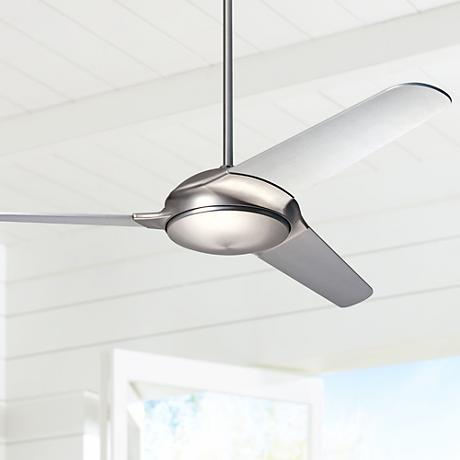 "52"" Modern Fan Flow Matte Nickel Ceiling Fan"