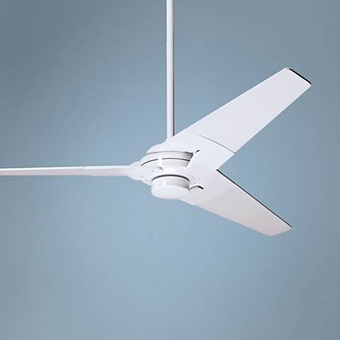 52 modern fan torsion gloss white ceiling fan 6j141 Modern white ceiling fan