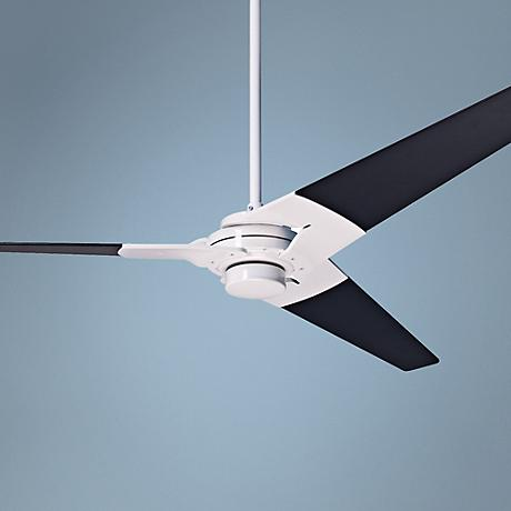 "52"" Modern Fan Torsion Black - Gloss White Ceiling Fan"