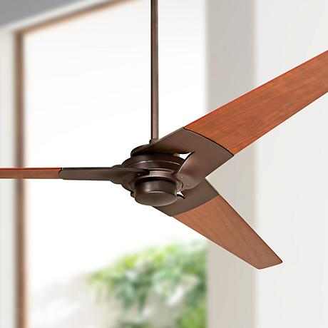 "52"" Modern Fan Torsion Dark Bronze Ceiling Fan"