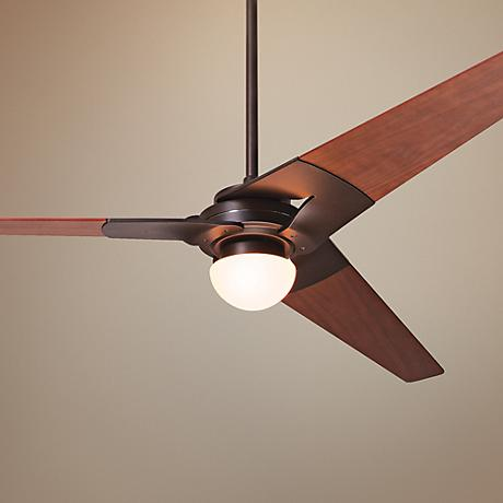 "52"" Modern Fan Torsion Dark Bronze Lighted Ceiling Fan"