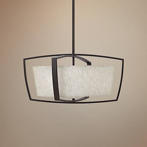 "Hinkley Blakely 24"" Wide Buckeye Bronze Pendant Light"