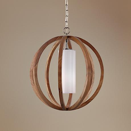 "Feiss Allier 20 1/2"" Wide Light Wood Pendant Light"