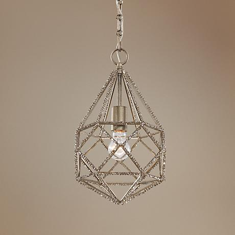 "Feiss Marquise 9 3/4"" Wide Burnished Silver Mini Pendant"