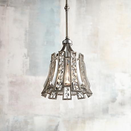 "Feiss Soros 8 3/4"" Wide Crystal Mini Pendant Light"
