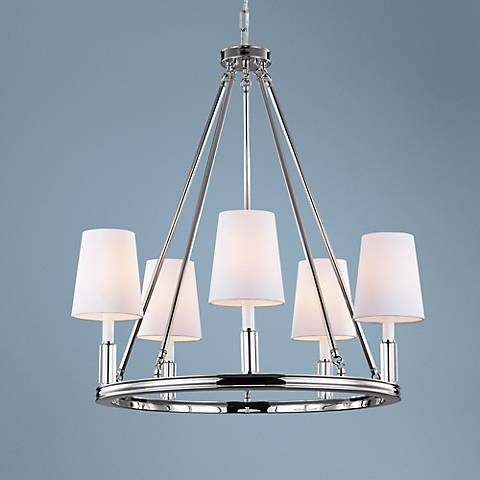 "Feiss Lismore 28 1/4"" Wide Polished Nickel Chandelier"