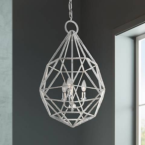 "Feiss Marquise 17 3/4"" Wide Silver Pendant Light"