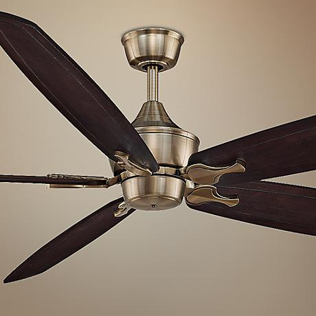 "80"" Fanimation Big Island Antique Brass Ceiling Fan"