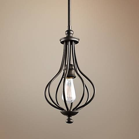 "Kichler Kensington 8 1/4"" Wide Olde Bronze Mini Pendant"