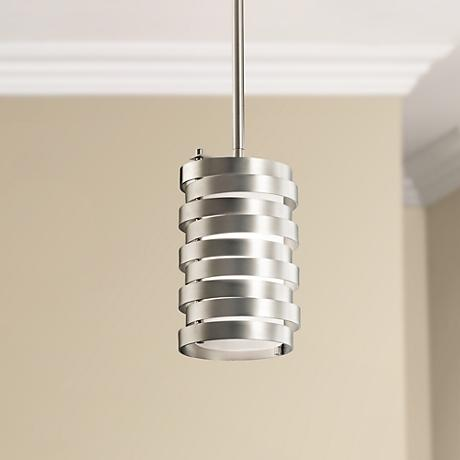 "Kichler Roswell 5 1/4"" Wide Nickel Mini Pendant"