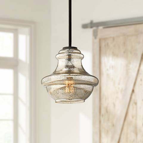 "Kichler Everly 9 1/2"" Wide Olde Bronze Mini Pendant"