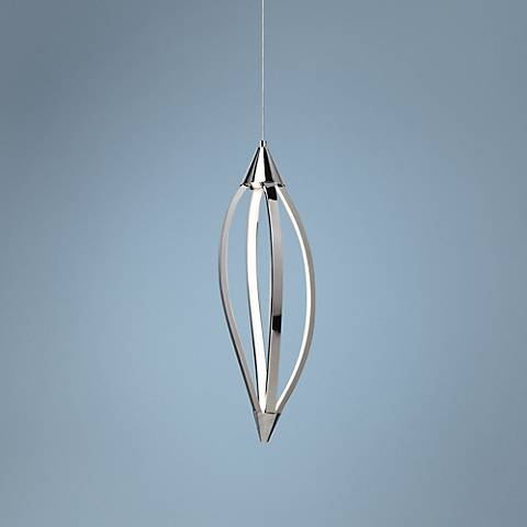 "Elan Meridian 7 3/4"" Wide Chrome LED Mini Pendant"