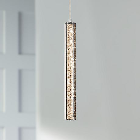 "Elan Neruda 2 1/4"" Wide Chrome Contemporary LED Mini Pendant"