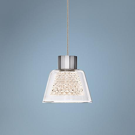 "Elan Essex 4 1/2"" Wide Chrome LED Mini Pendant"
