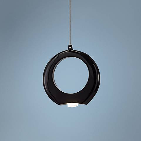 "Elan Zuy 6"" Wide Black LED Mini Pendant"