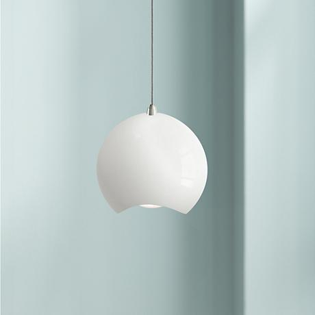 "Elan Minn 9 3/4"" Wide White LED Pendant Light"