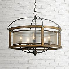 mission 26 wide wood 5 light pendant chandelier cal lighting wood chandelier