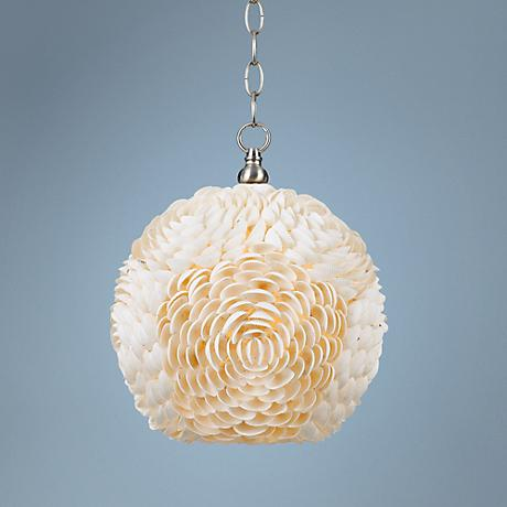 "Sea Shell 11 1/2"" Wide Shell Pendant"