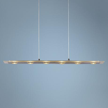 "Linealis 26 3/4""W Polished Chrome LED Island Chandelier"