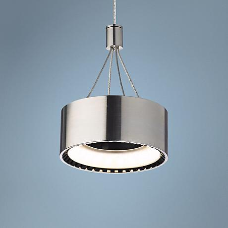 "Tech FreeJack Corum 6"" Wide LED Satin Nickel Mini-Pendant"
