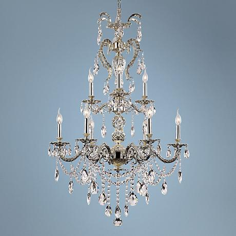 "Cozima 24"" Wide Antique Nickel 9-Light Chandelier"