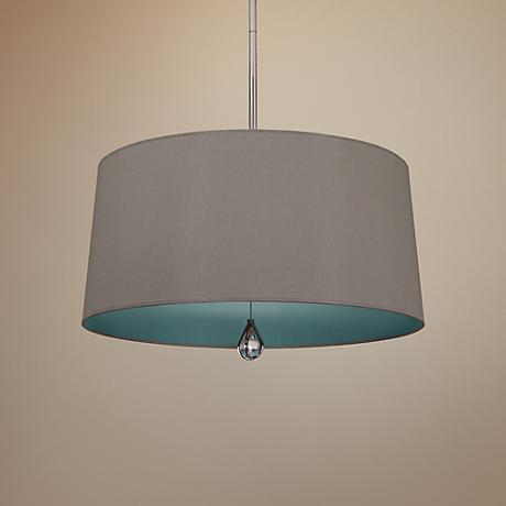 "Custis Collection 25 1/2"" Wide Carter Gray Pendant"