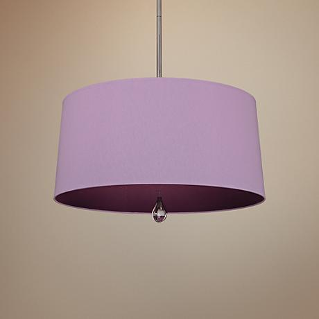 "Custis Collection 25 1/2"" Wide Ludwell Lilac Pendant"