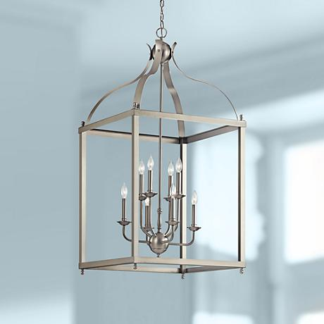 "Kichler Larkin 24"" Wide Brushed Nickel Foyer Pendant"