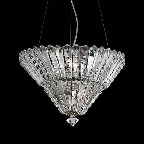 "Pendelette Chrome 16 1/4"" Wide Crystal Pendant Chandelier"