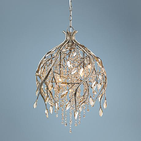 "Autumn Twilight 13"" Wide Mystic Gold Pendant Light"