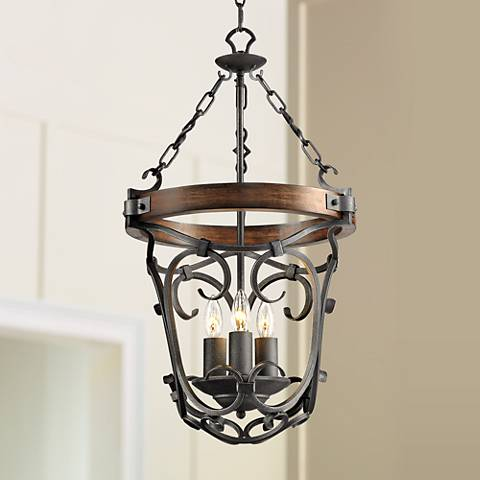 16 1 2 wide black iron hand forged pendant 6r094 lamps plus