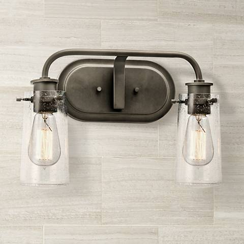 "Kichler Braelyn 15"" Wide Olde Bronze 2-Light Bath Light"
