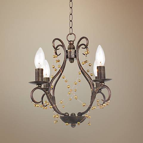"Crystorama Angelina 14 1/2"" Wide Bronze Chandelier"