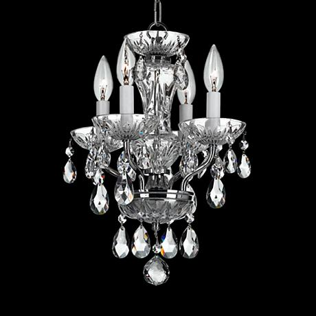 Crystorama traditional crystal 11 w chrome mini chandelier 6r544 - Traditional crystal chandeliers ...