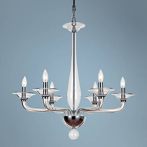 "Crystorama Stella Clear 30""W Polished Chrome Chandelier"