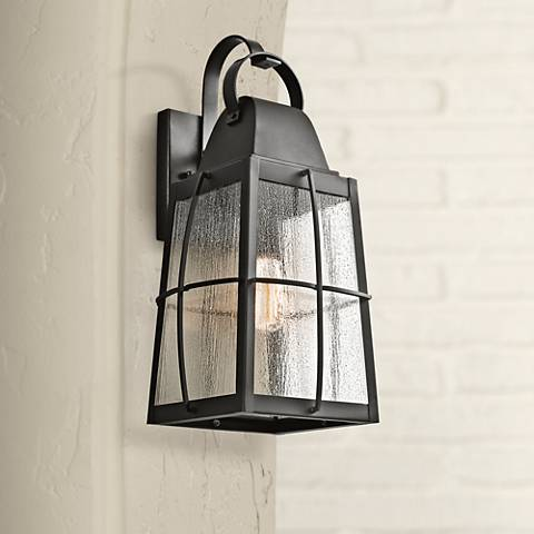 "Kichler Tolerand Seedy 20 1/4""H  Black Outdoor Wall Light"