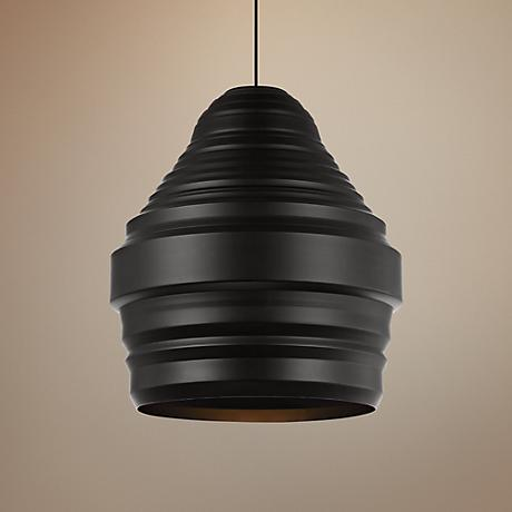 "Tech Lighting Ryker 18"" Wide Black Pendant"