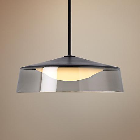 "Tech Lighting Masque Grande 18"" Wide Smoke Pendant"