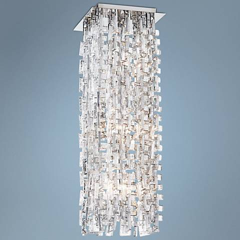 "Anthropolis 9 3/4"" Wide Silver Glass 6-Light Chandelier"