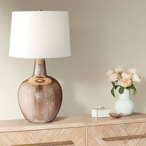 "Nita 27 1/2"" High Distressed Brown Glass Table Lamp"