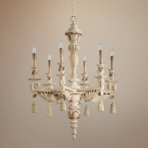"Brenton 28"" Wide Persian White 6-Light Chandelier"