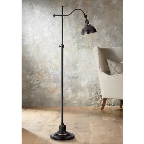 Portico Oil Rubbed Bronze Adjustable Pharmacy Floor Lamp
