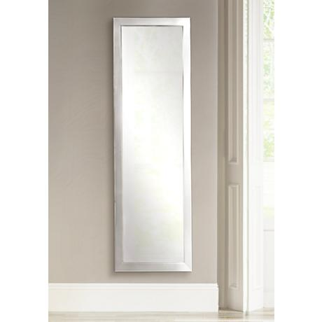 "Ezel Silver 24 1/2"" x 62 1/2"" Full Length Wall Mirror"