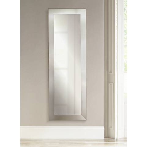 "Ailey Silver Wide 26"" x 64"" Full Length Floor Mirror"