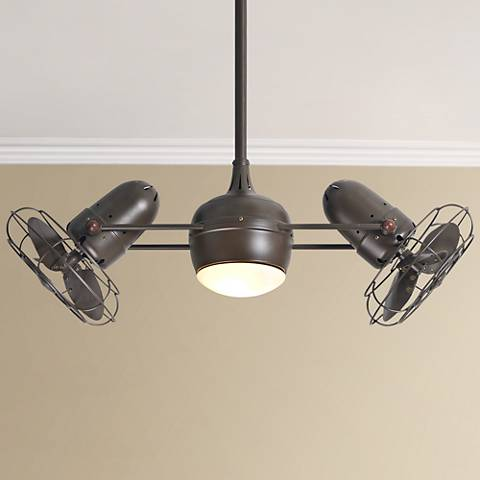 "39"" Matthews Dagny Textured Bronze Lighted Dual Ceiling Fan"